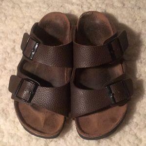Birkenstock's Brown Leather Arizona Style Sandals